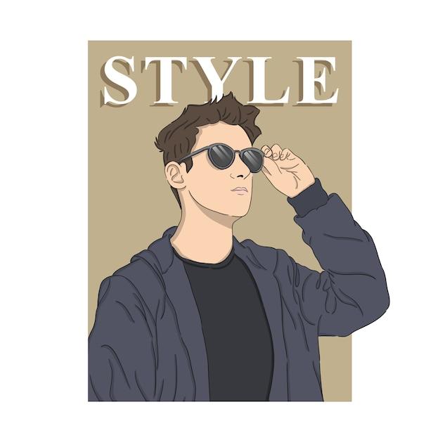 Man style illustration Premium Vector
