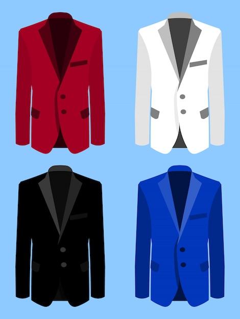 Man suit set Premium Vector