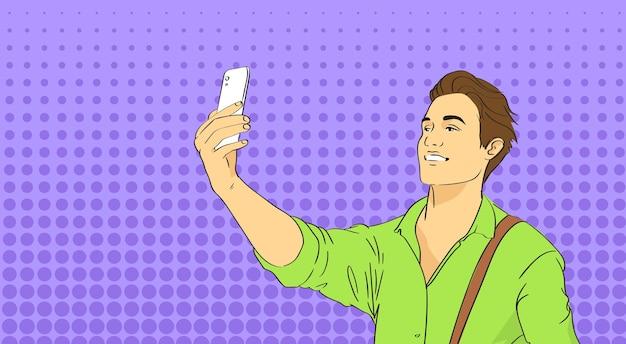 Man taking selfie Premium Vector