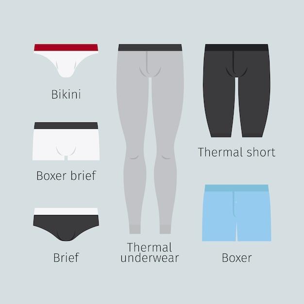 Man underwear Premium Vector