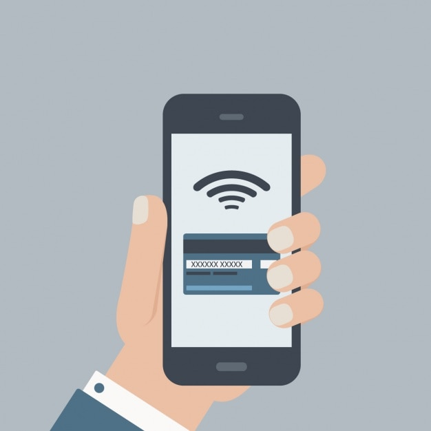 Man using a mobile phone Free Vector