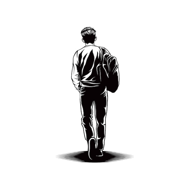 premium vector man walk with bag view back https www freepik com profile preagreement getstarted 6701614
