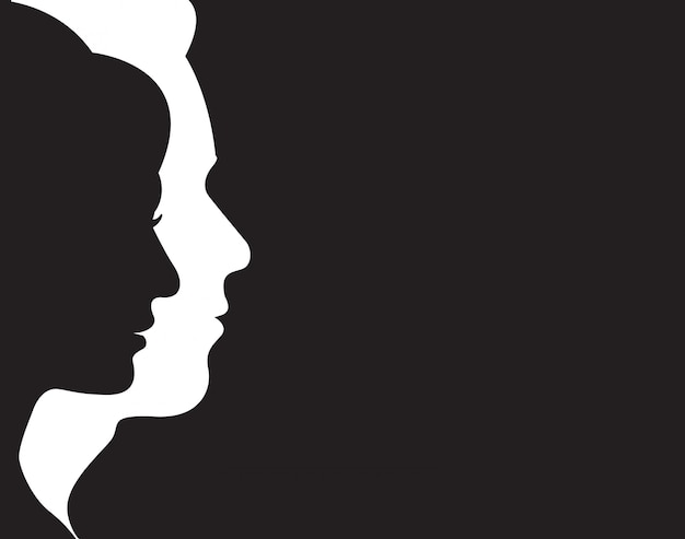 Man and woman symbol Premium Vector