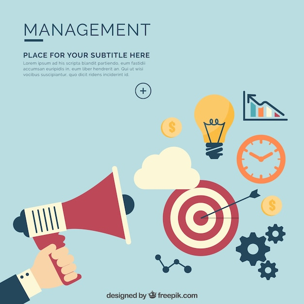 Management background Free Vector