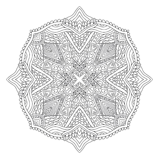 マンダラアートデザイン。ボヘミアン装飾模様 Premiumベクター
