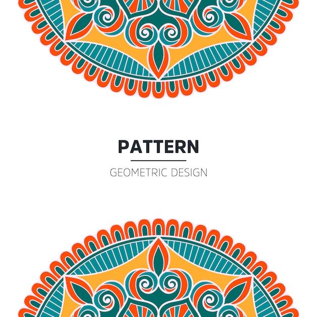 Mandala background design Premium Vector