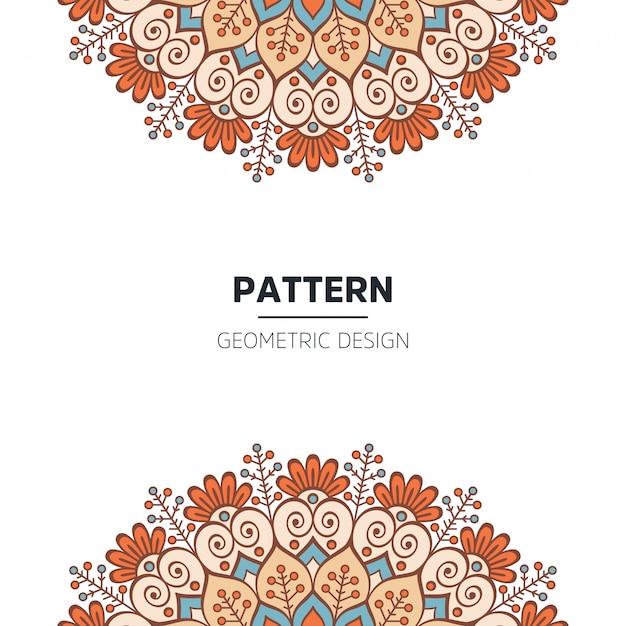 Mandala background design Free Vector