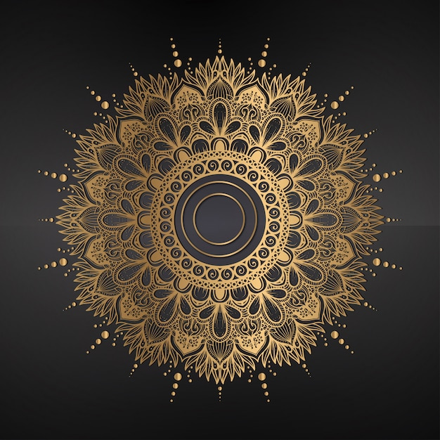 Mandala background, ornament, background Premium Vector