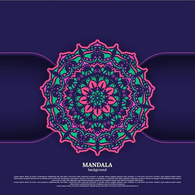 Фон мандалы. винтажные декоративные элементы. ручной обращается фон. ислам, арабские, индийские, османские мотивы. Premium векторы