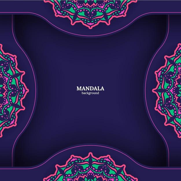 Фон мандалы. винтажные декоративные элементы. ручной обращается фон. ислам, арабские, индийские, османские мотивы. Бесплатные векторы