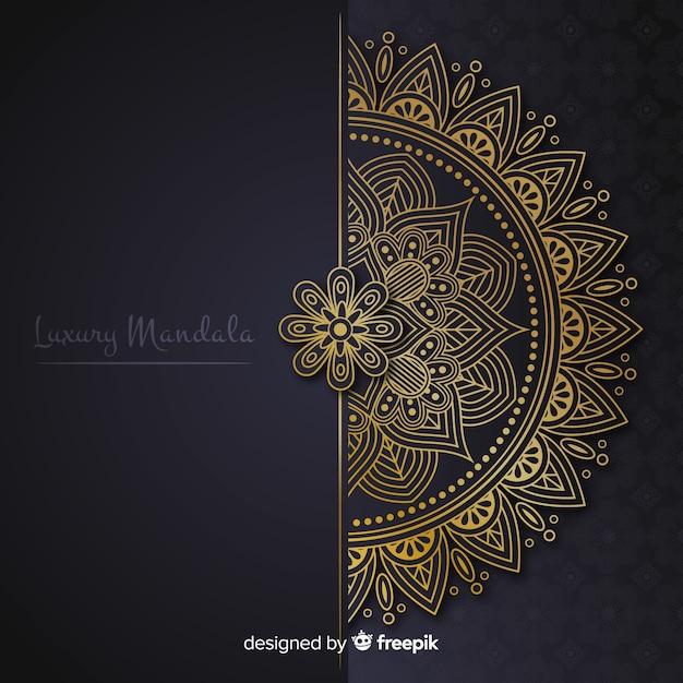 Mandala background Free Vector