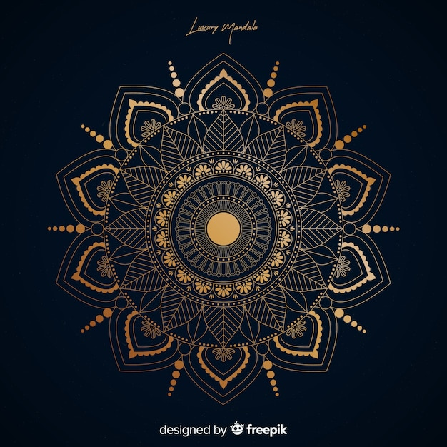 Mandala Background Vector Free Download