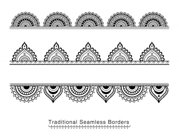 Mandala borders Premium Vector