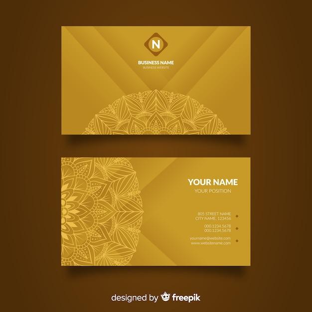Концепция визитной карточки mandala Premium векторы