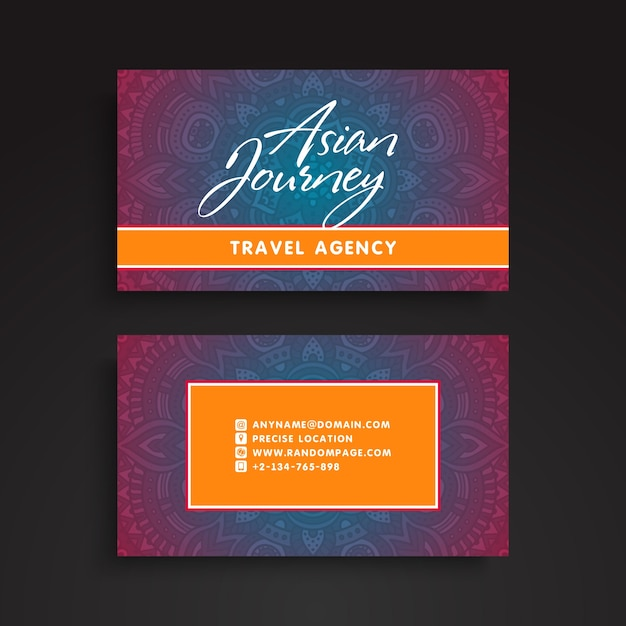 Mandala business card in asian style vector free download mandala business card in asian style free vector colourmoves