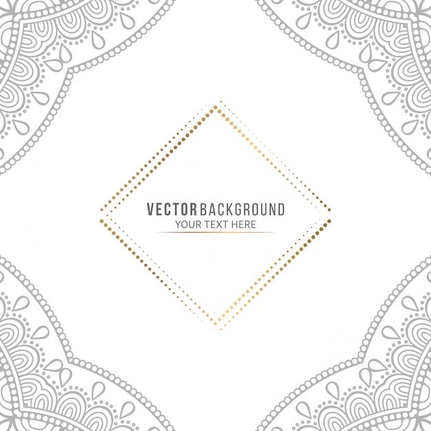 Mandala card or invitation with vintage decorative elements Premium Vector