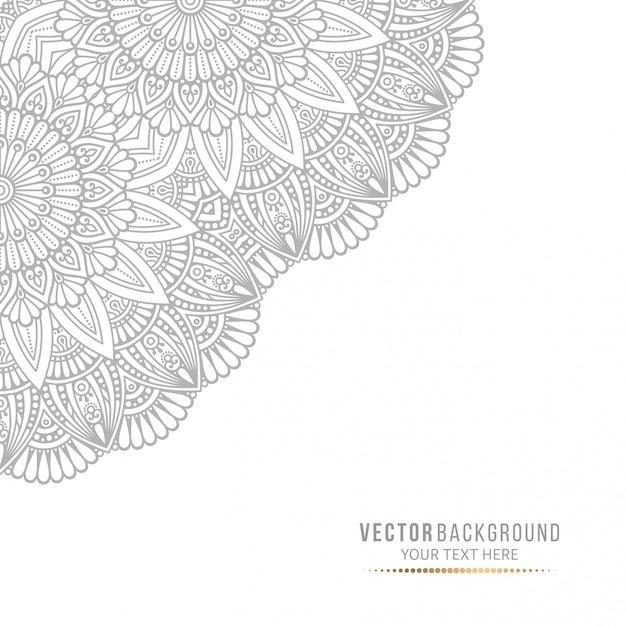Mandala card or invitation with vintage decorative elements Premium Vector