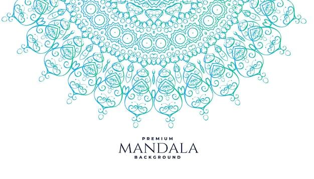 インド風の曼荼羅装飾の背景 無料ベクター