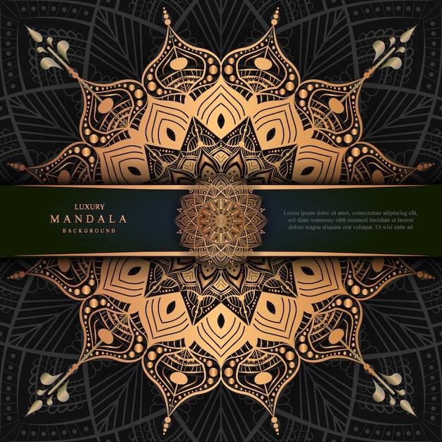 Mandala decoration, luxury arabic or indian background design Premium Vector