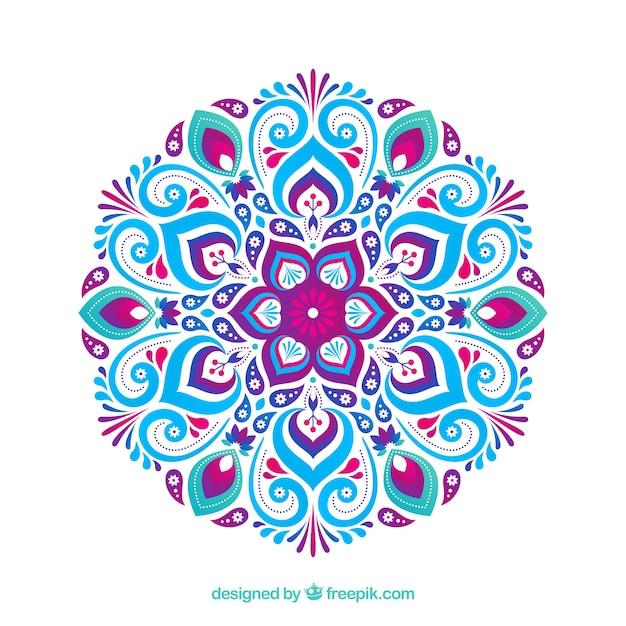 Mandala decorative background Free Vector