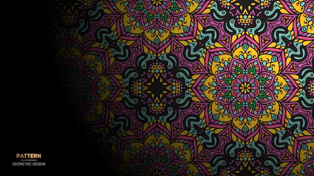 Mandala design background for yoga, meditation Free Vector