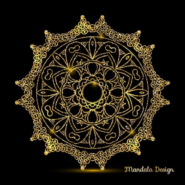 mandala design of gold vector free download. Black Bedroom Furniture Sets. Home Design Ideas