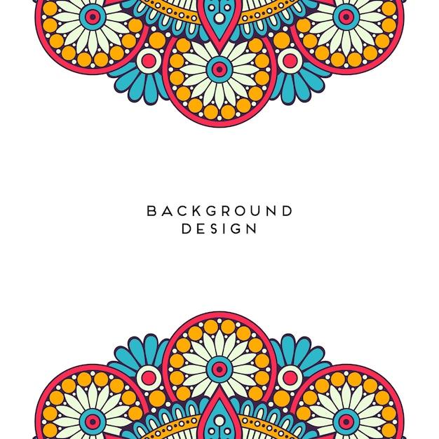 Mandala design on white blank background Premium Vector