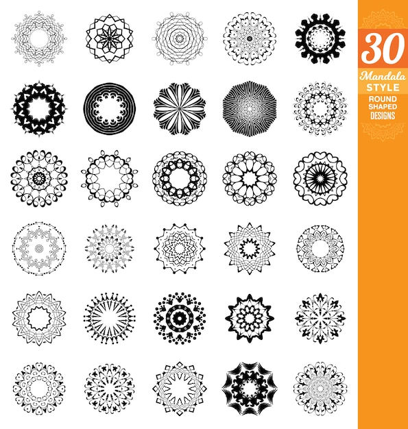 Mandala designs collection Vector | Free Download