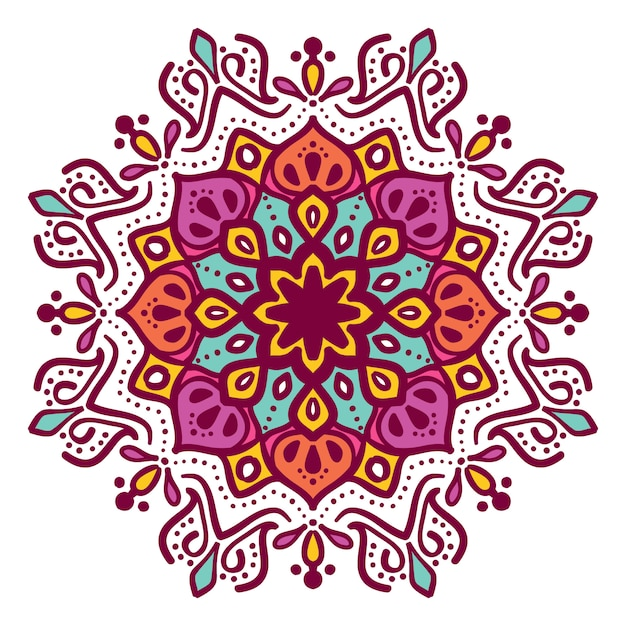Mandala floral illustration vector design Premium Vector