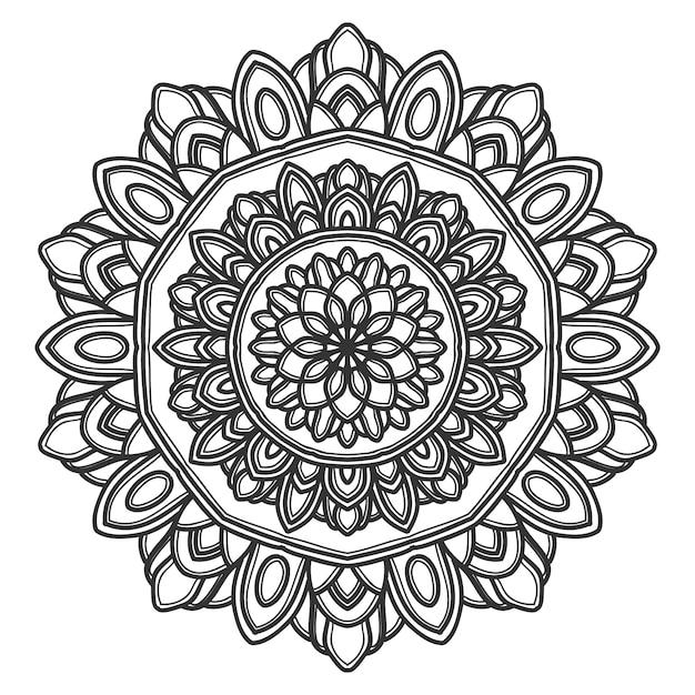 Mandala flower illustration vector design Premium Vector