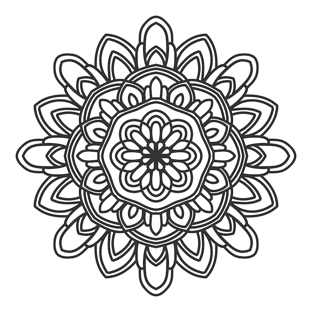 Mandala flower illustration vector design Premium Vector