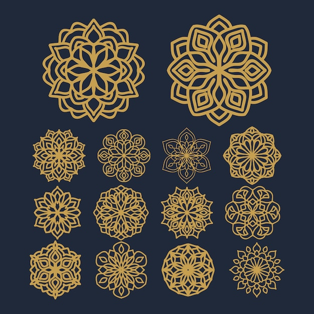 Mandala flower pattern illustration on pack vector Premium Vector
