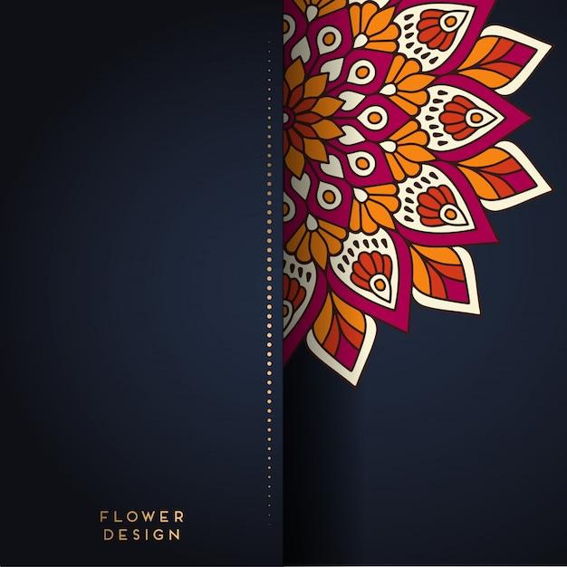 Mandala illustration in flower design Premium Vector