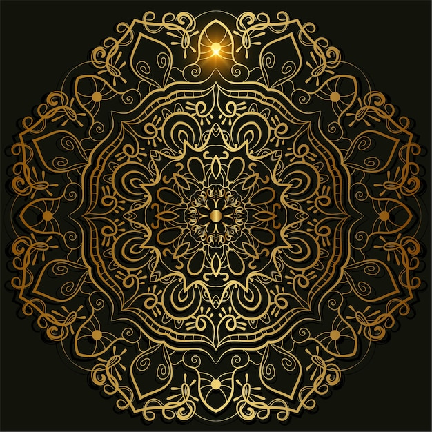 만다라 장식 또는 꽃 배경 디자인. 프리미엄 벡터