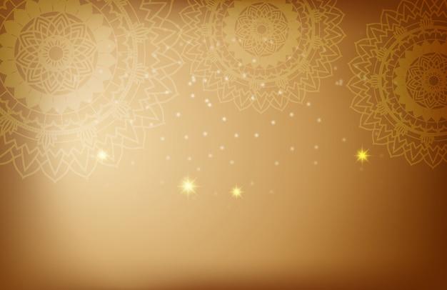 Mandala patterns on brown background Free Vector