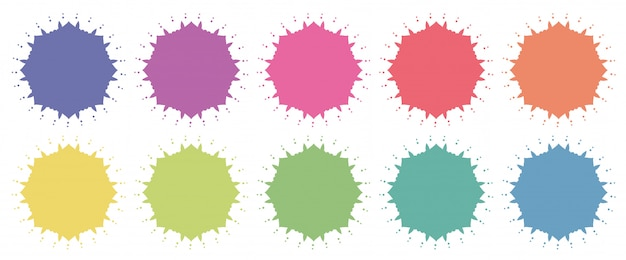 Mandala patterns in different colors Free Vector