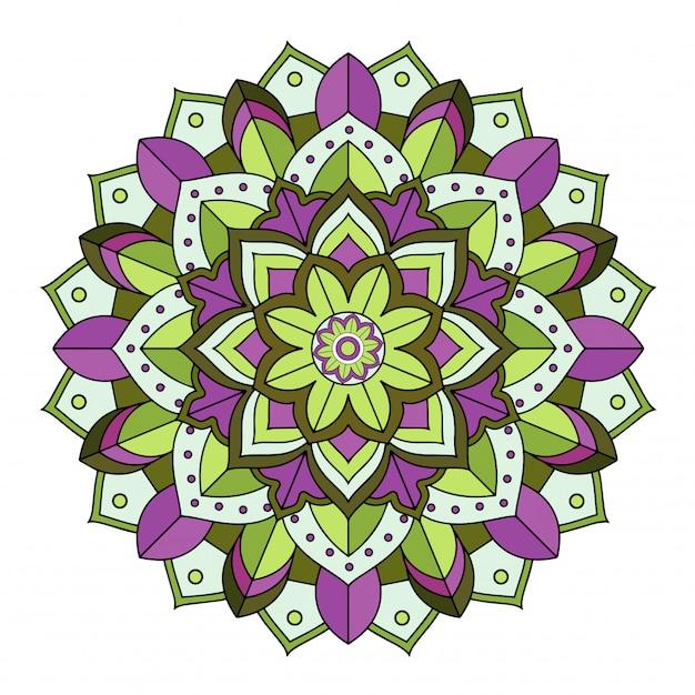 Mandala patterns on isolated Premium Vector