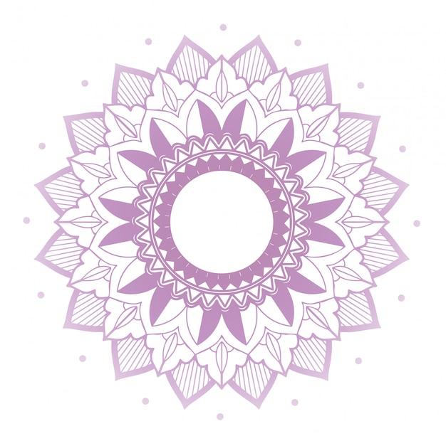 Mandala patterns on isolated Free Vector