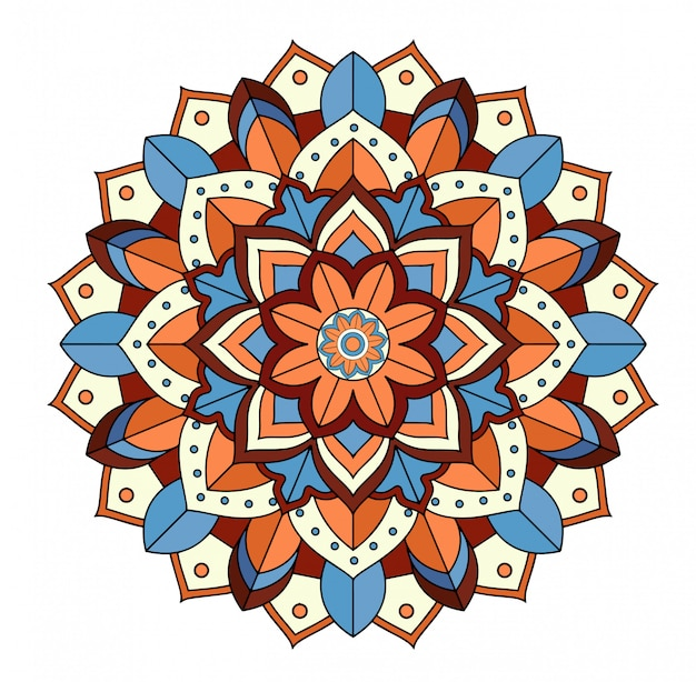 Mandala patterns on white Free Vector