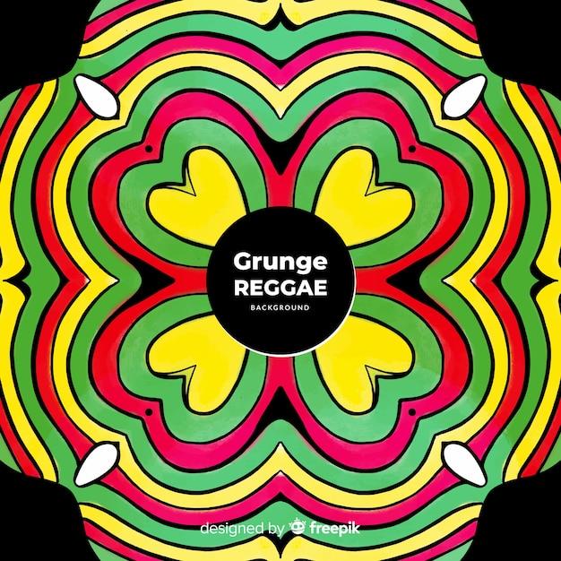 Mandala reggae background Free Vector