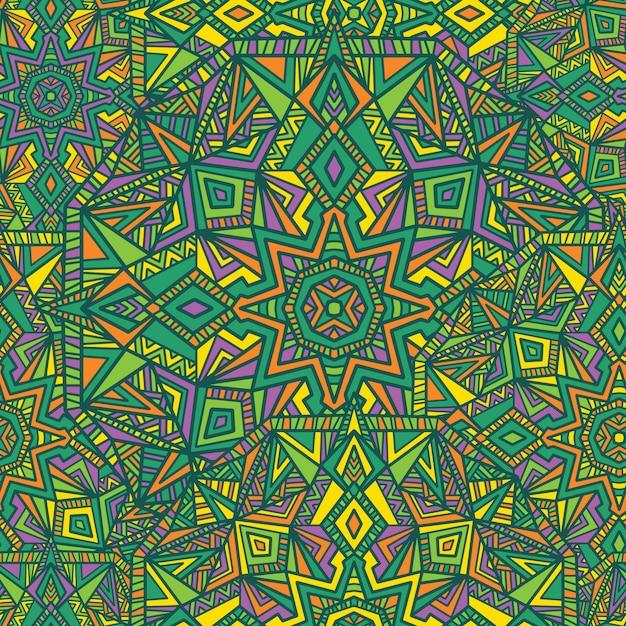 Mandala seamless pattern background. tribal ornament. Premium Vector