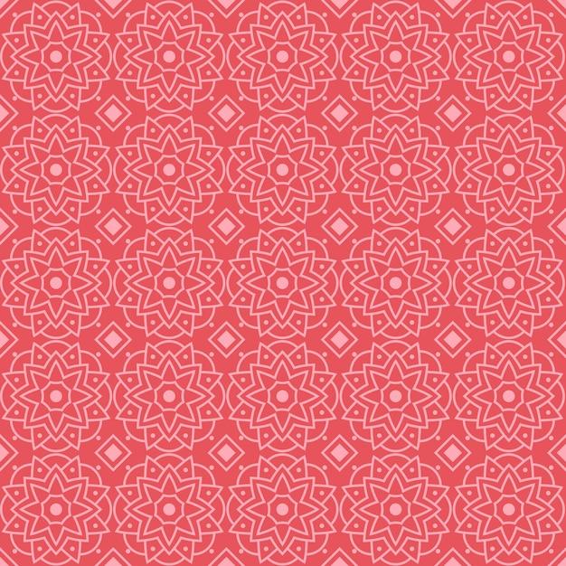 Mandala seamless pattern background wallpaper. elegant traditional motif. luxury geometric. classic batik. Premium Vector