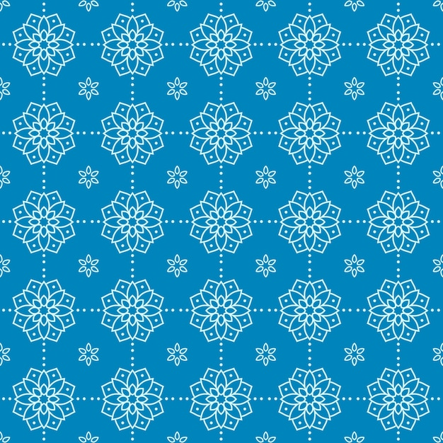 Mandala seamless pattern background wallpaper. elegant traditional motif. luxury geometric. classic batik. Premium Vector