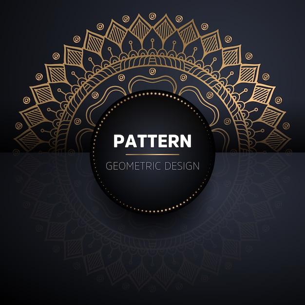 Mandala seamless pattern. modello di elementi decorativi vintage Vettore gratuito