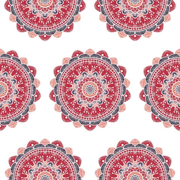 Mandala seamless pattern Premium Vector