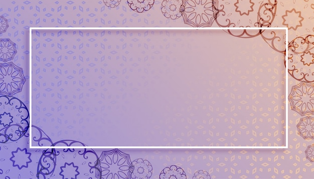 Mandala style background with text space design Free Vector