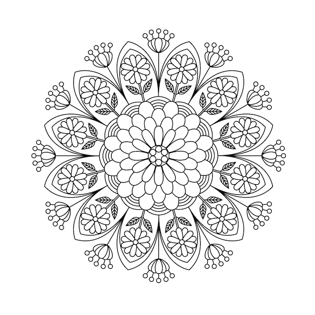 Premium Vector Mandala The Swirls Printable Colouring Pages