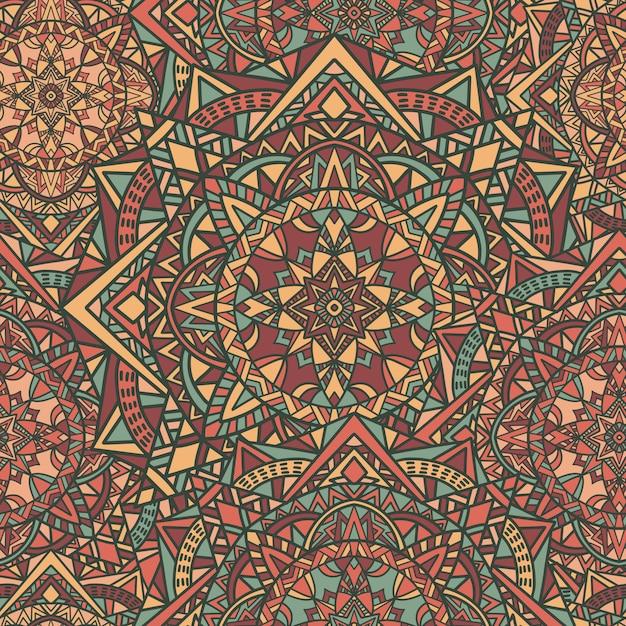 Mandala vector seamless pattern background Premium Vector