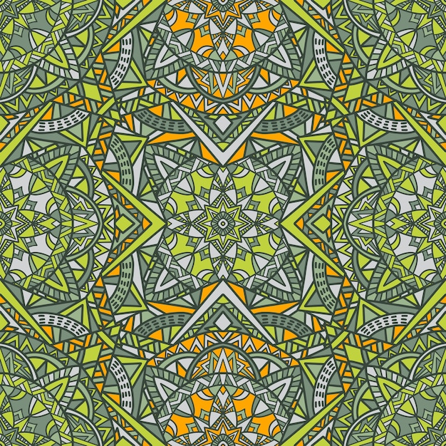 Mandala vector seamless pattern background Premium Vector