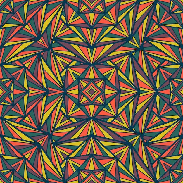 Mandala vector seamless pattern. tribal ornament. Premium Vector